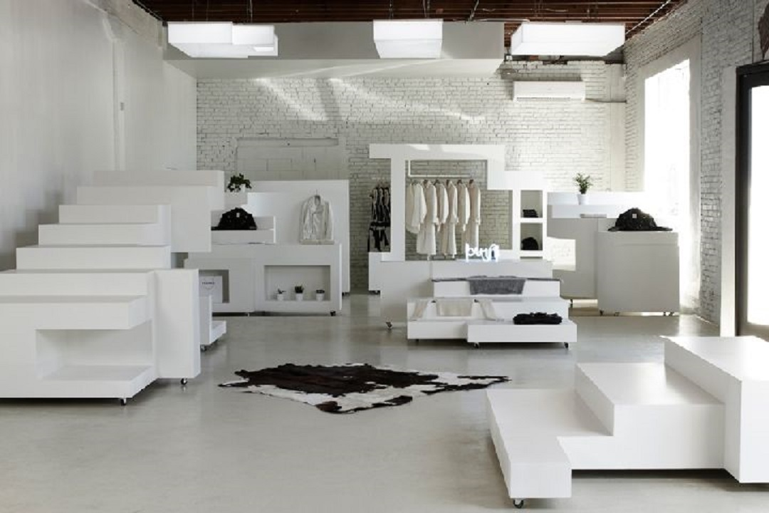طراحی داخلی بوتیک لباس در لس آنجلس - Frankie store 5 1