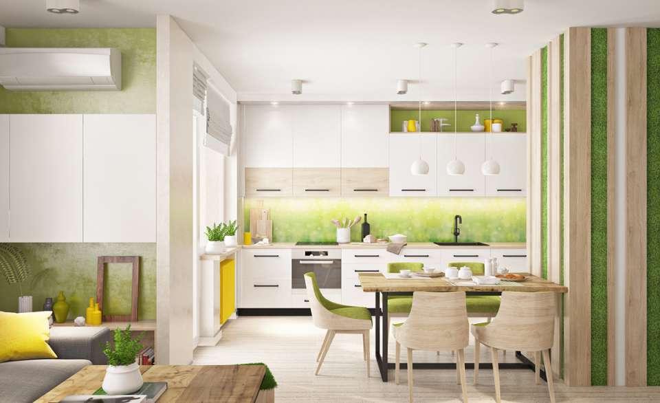 33 ایده طراحی آشپزخانه سبز رنگ - Green Kitchens 1