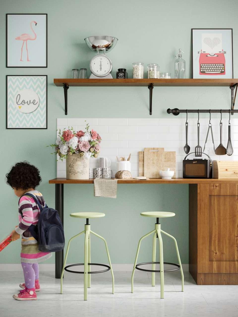 33 ایده طراحی آشپزخانه سبز رنگ - Green Kitchens 11