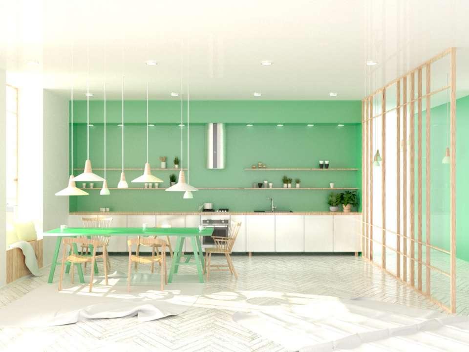 33 ایده طراحی آشپزخانه سبز رنگ - Green Kitchens 12