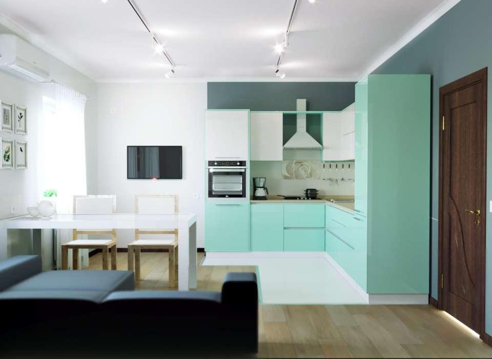 33 ایده طراحی آشپزخانه سبز رنگ - Green Kitchens 14