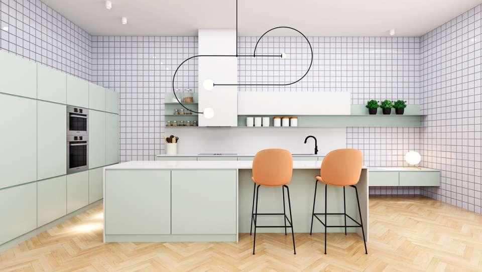 33 ایده طراحی آشپزخانه سبز رنگ - Green Kitchens 15