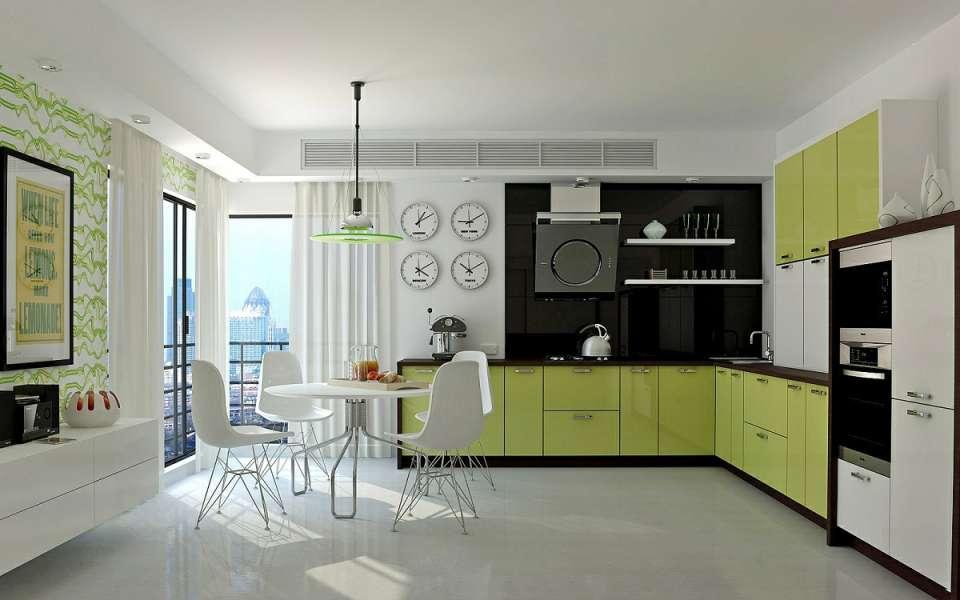 33 ایده طراحی آشپزخانه سبز رنگ - Green Kitchens 17