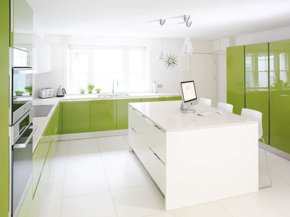 33 ایده طراحی آشپزخانه سبز رنگ - Green Kitchens 18