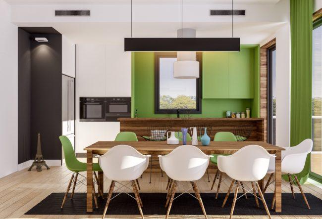 33 ایده طراحی آشپزخانه سبز رنگ