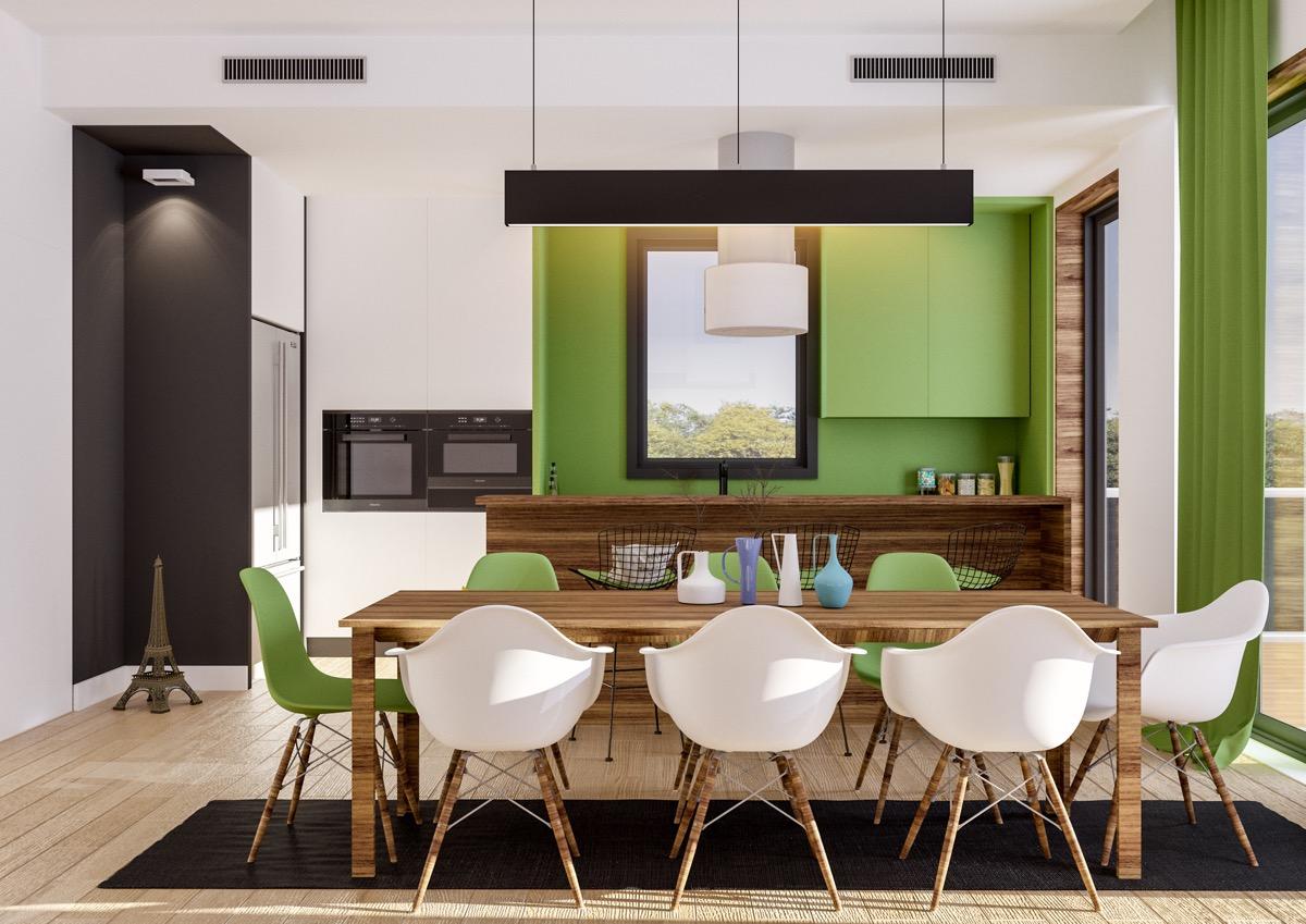33 ایده طراحی آشپزخانه سبز رنگ - Green Kitchens 19 1