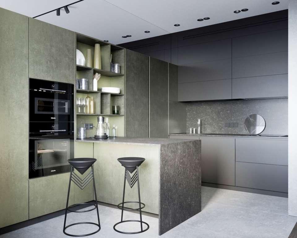 33 ایده طراحی آشپزخانه سبز رنگ - Green Kitchens 20
