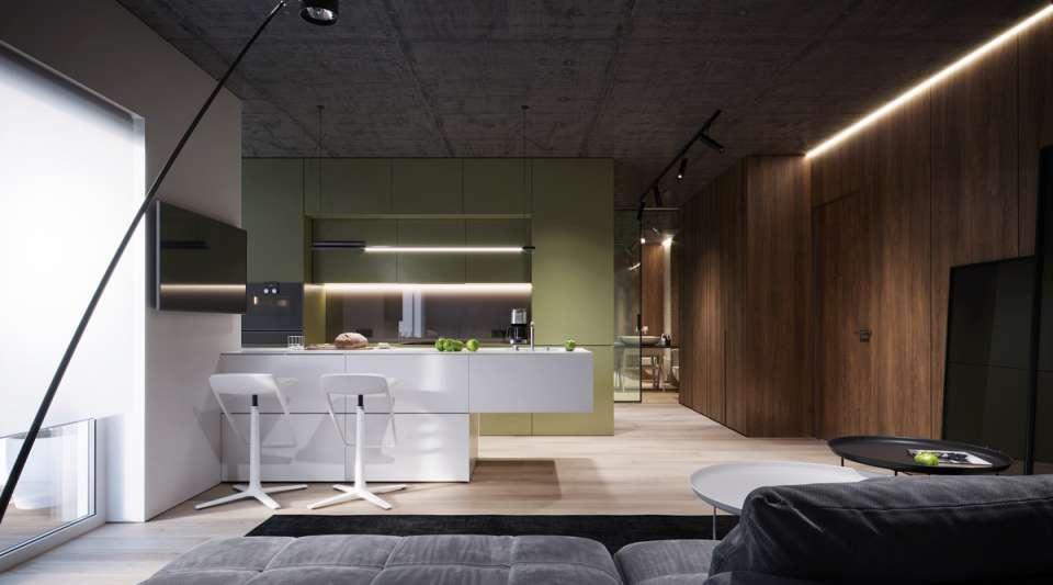33 ایده طراحی آشپزخانه سبز رنگ - Green Kitchens 21