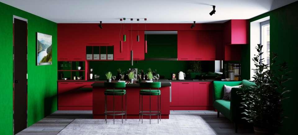 33 ایده طراحی آشپزخانه سبز رنگ - Green Kitchens 27
