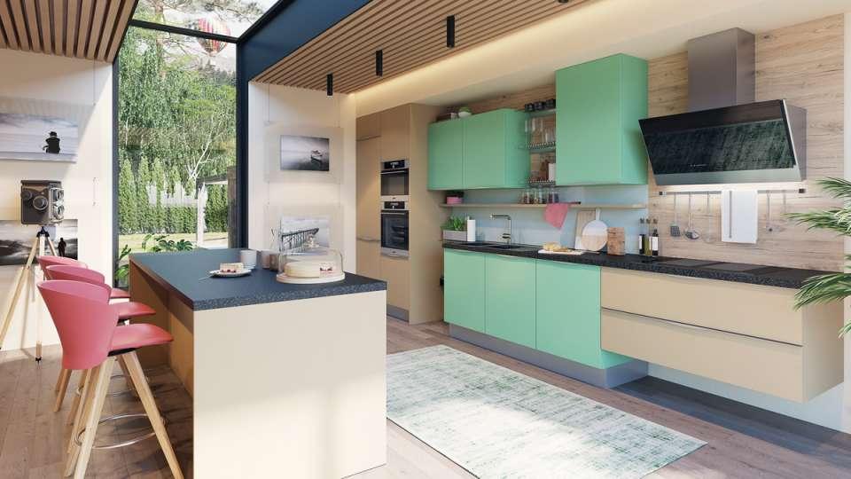 33 ایده طراحی آشپزخانه سبز رنگ - Green Kitchens 28