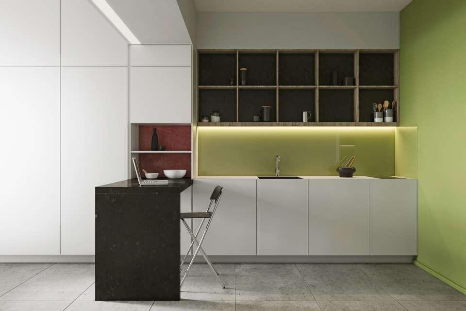 33 ایده طراحی آشپزخانه سبز رنگ - Green Kitchens 3