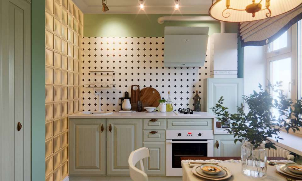 33 ایده طراحی آشپزخانه سبز رنگ - Green Kitchens 30