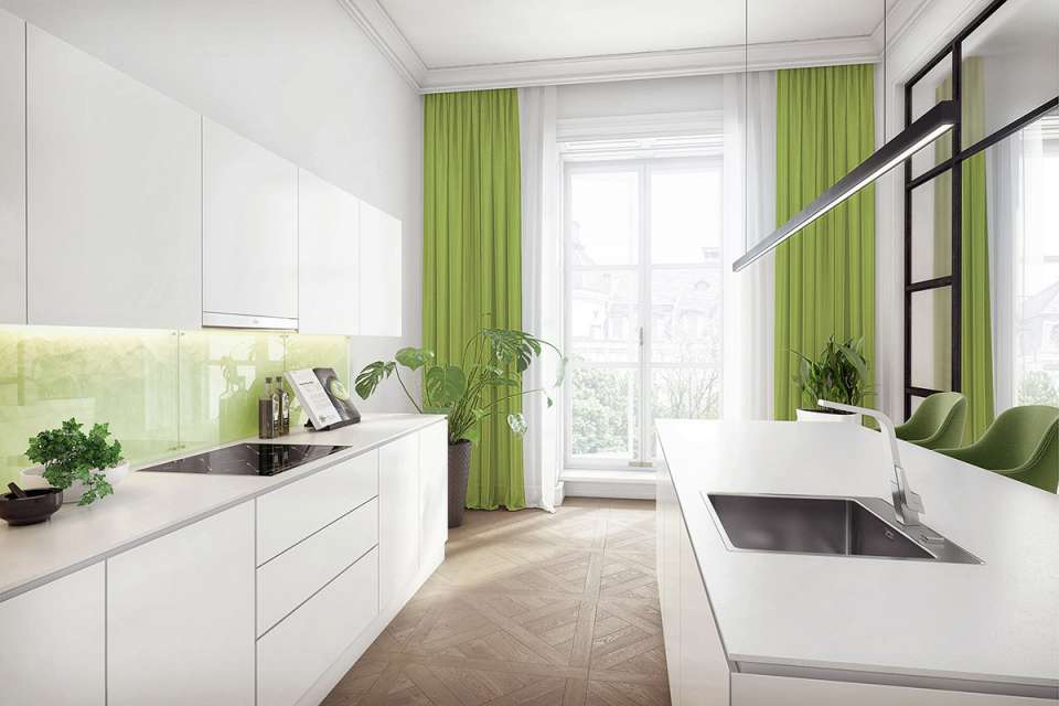 33 ایده طراحی آشپزخانه سبز رنگ - Green Kitchens 33