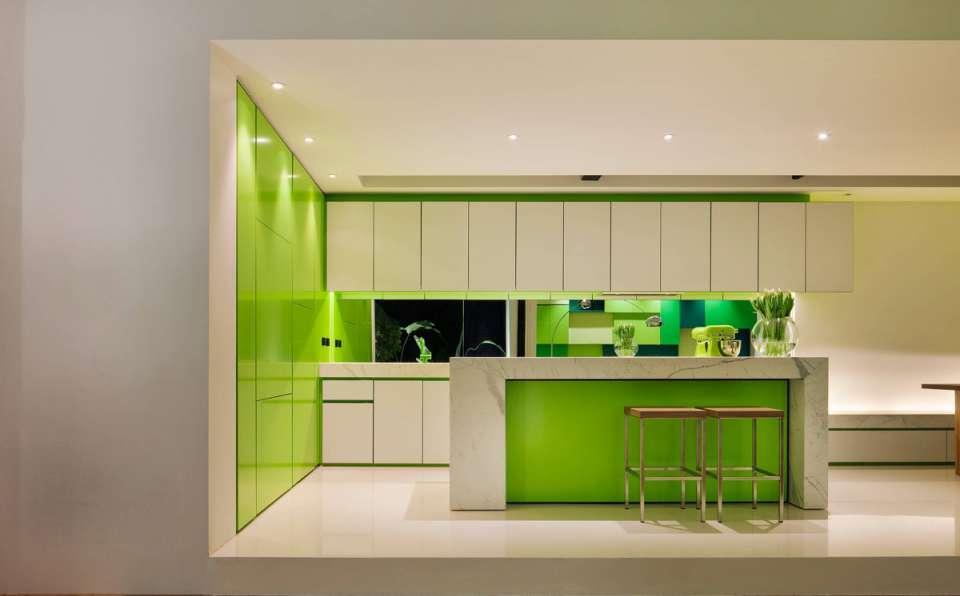 33 ایده طراحی آشپزخانه سبز رنگ - Green Kitchens 5
