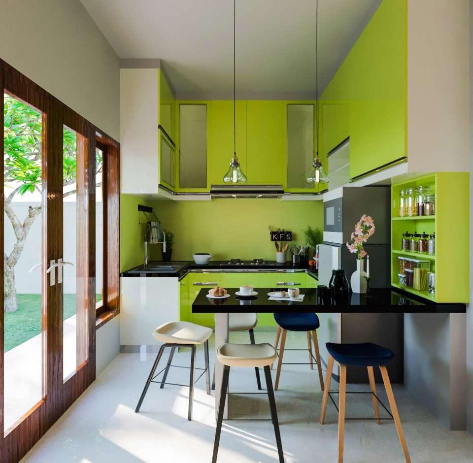 33 ایده طراحی آشپزخانه سبز رنگ - Green Kitchens 7