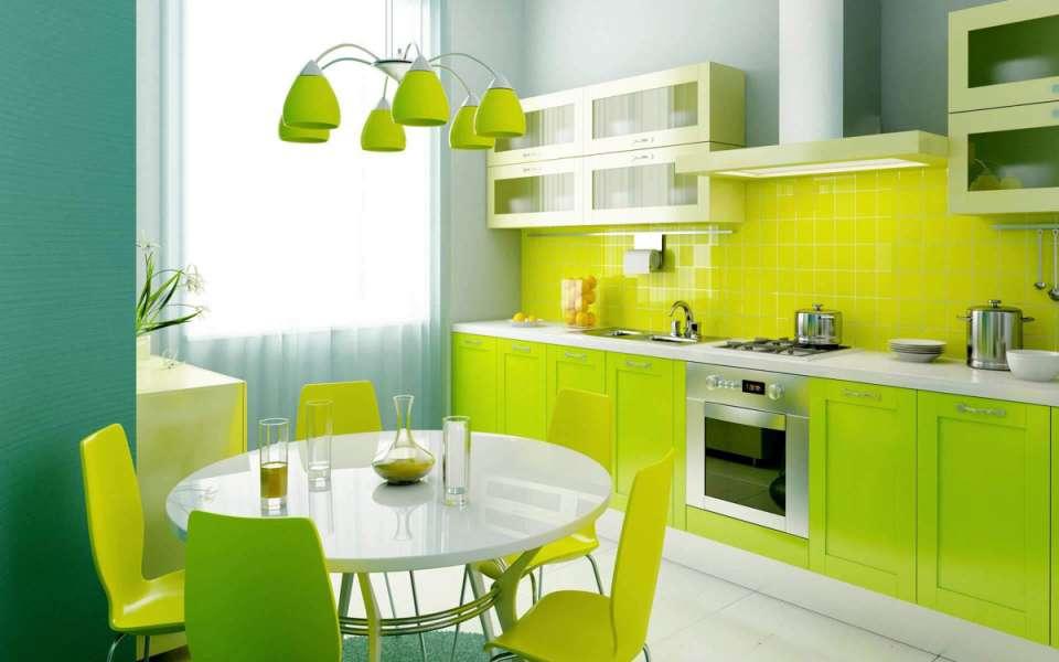 33 ایده طراحی آشپزخانه سبز رنگ - Green Kitchens 8