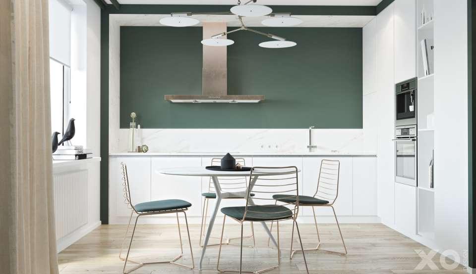 33 ایده طراحی آشپزخانه سبز رنگ - Green Kitchens 9