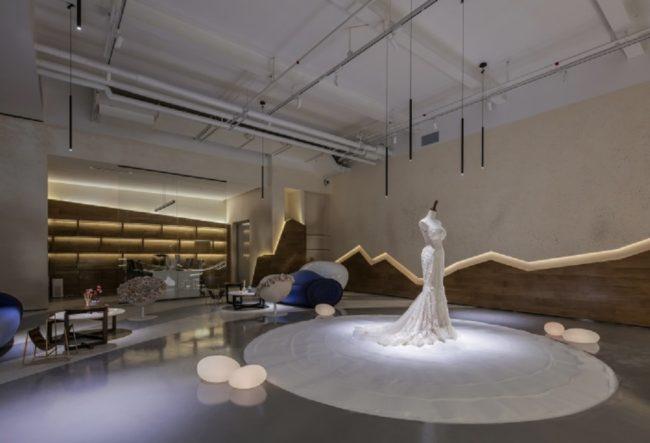 طراحی داخلی فروشگاه لباس عروس