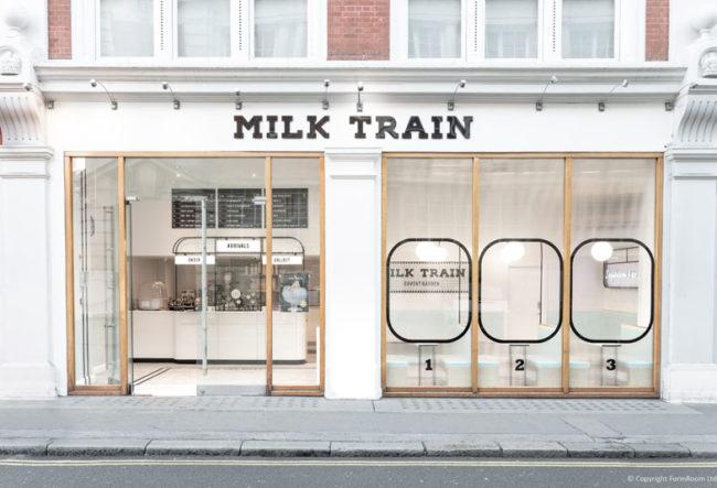 طراحی داخلی کافه بستنی با الهام از کابین و ایستگاه های قطار