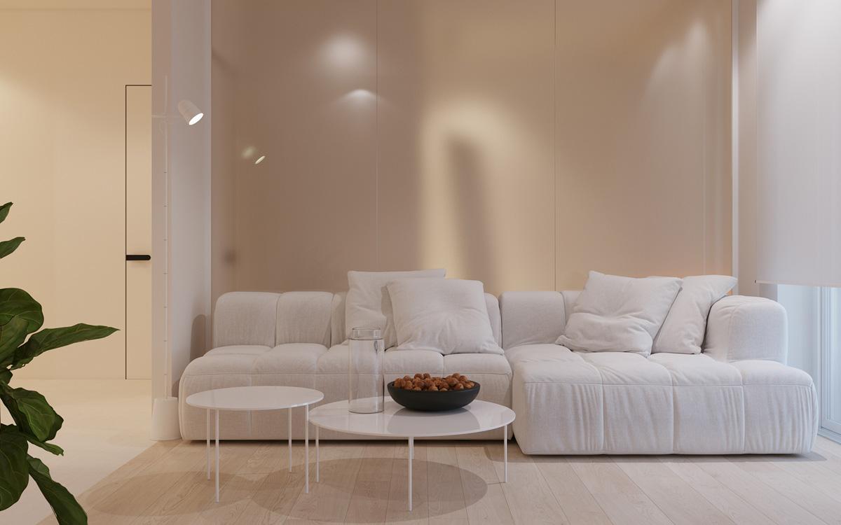 طراحی داخلی آپارتمان یک خوابه ۵۲ متری - One Bedroom Apartments 1 1