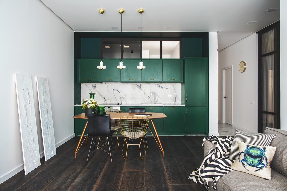 طراحی 30 آشپزخانه با کابینت یک طرفه - One Wall Kitchens 11 1