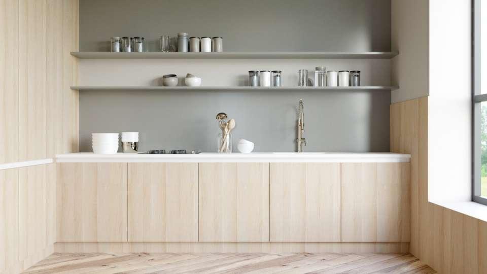 آشپزخانه با کابینت یک طرفه