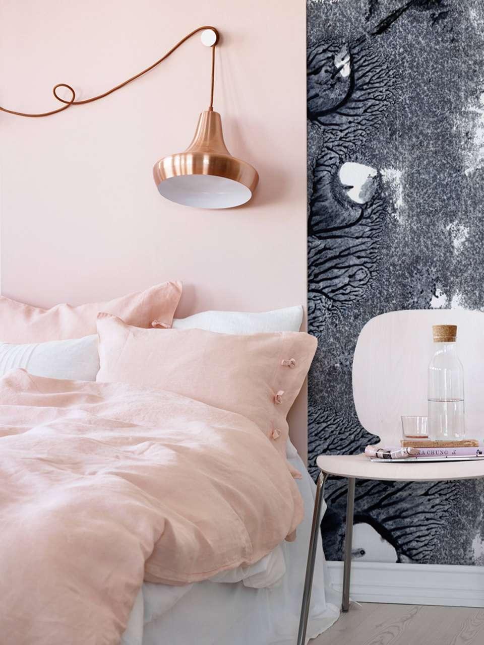 طراحی داخلی اتاق خواب صورتی