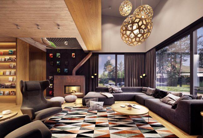 طراحی داخلی خانه به سبک روستیک