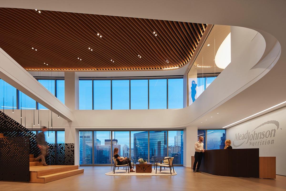 دفتر کار با سقف ارگانیک