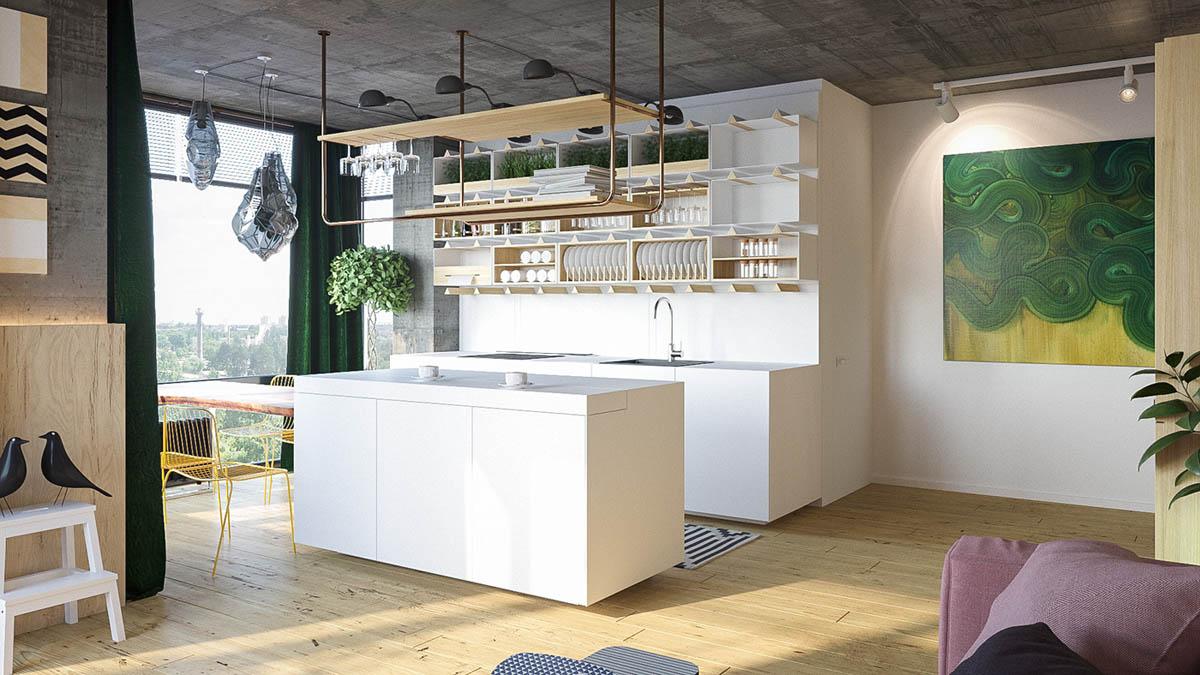 طراحی داخلی آپارتمان با تم پاستلی - pastel accents modern homes 3 1