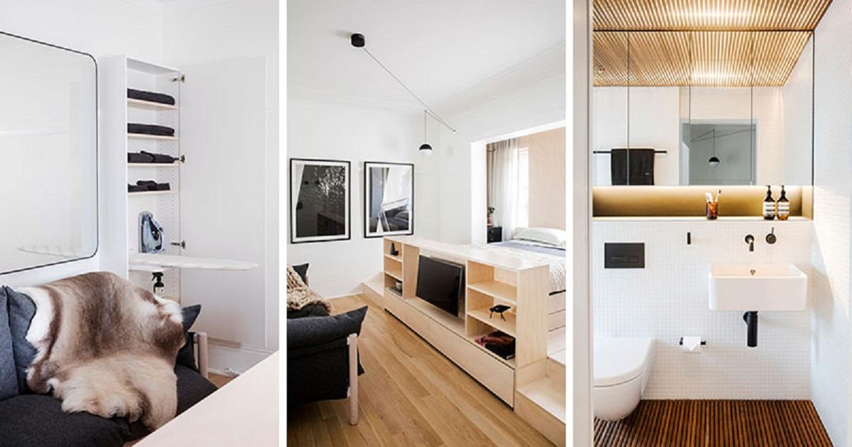 طراحی استودیو آپارتمان در سیدنی - small apartment storage solutions 12