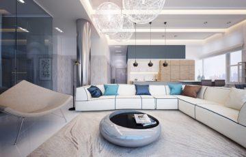 طراحی داخلی آپارتمان مشرف به رودخانه