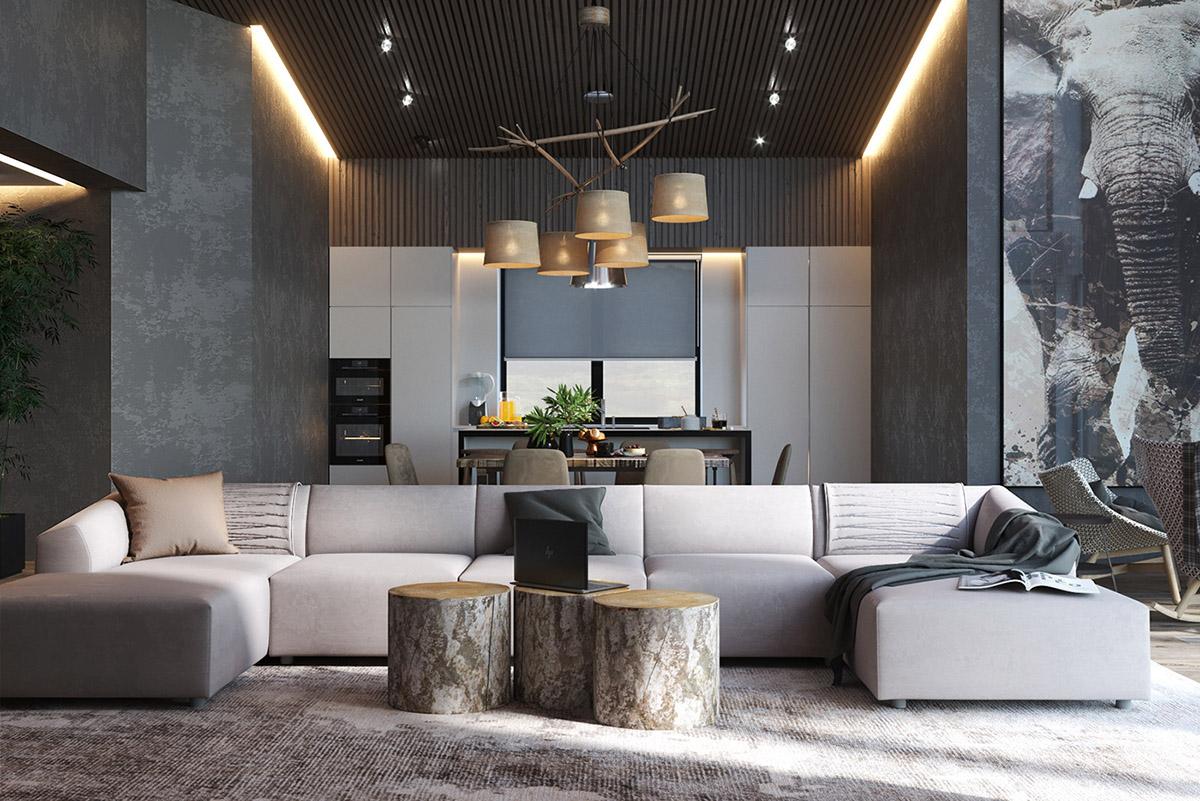 طراحی داخلی 4 آپارتمان با تم خاکستری - Apartments Grey Shade 26 1