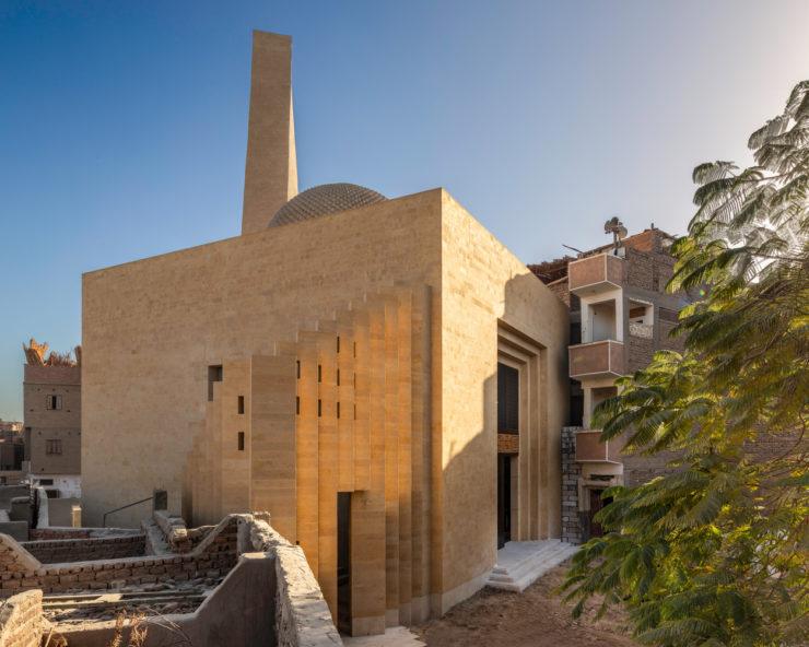 طراحی مسجد مصر با گنبد تک پوسته لانه زنبوری