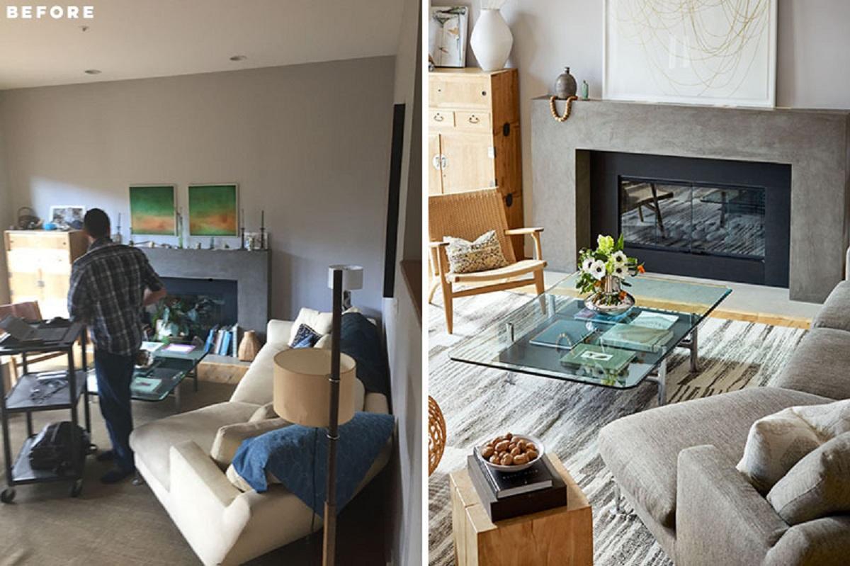 قبل و بعد بازسازی آپارتمان به سبک معاصر