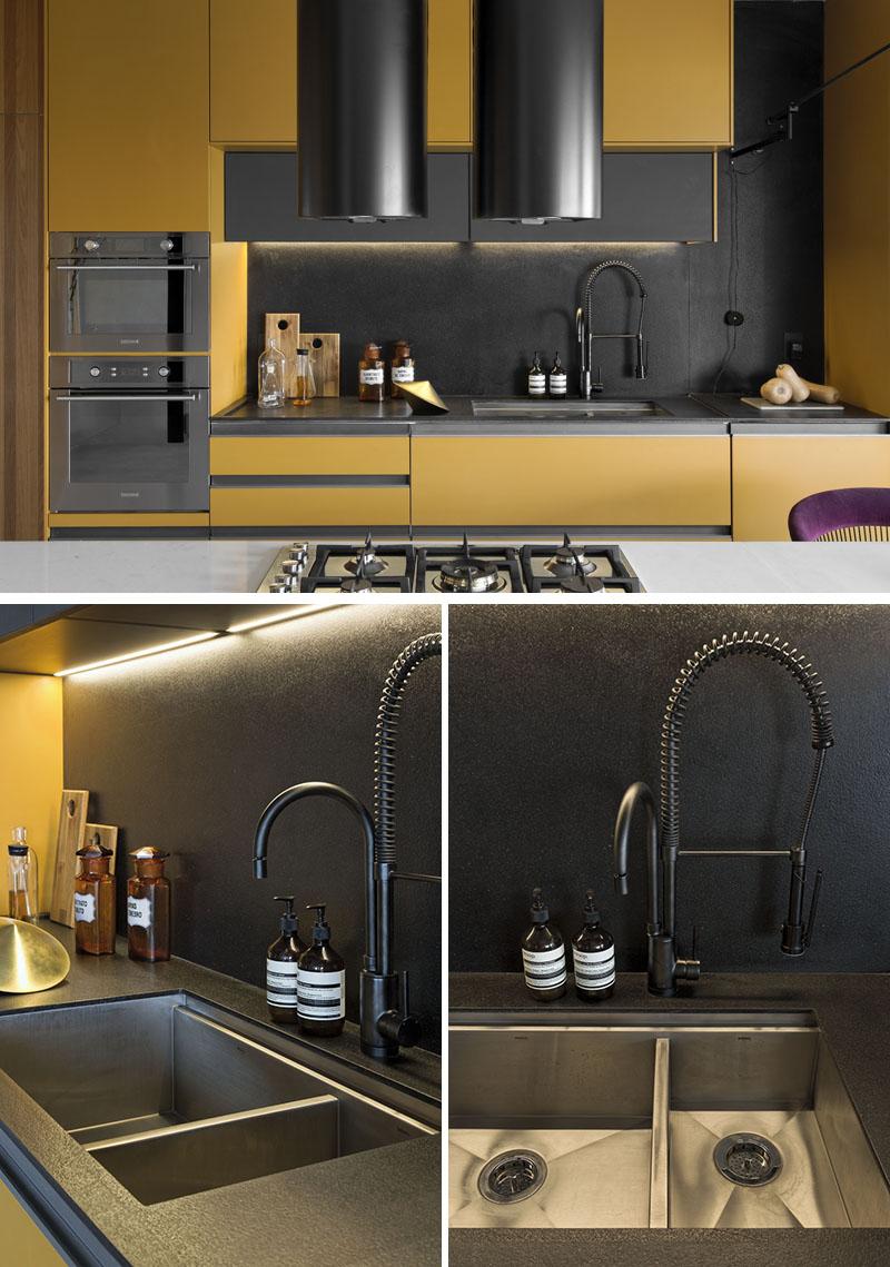 طراحی داخلی آشپزخانه با کانتر معلق - Kitchen Hanging Island 4