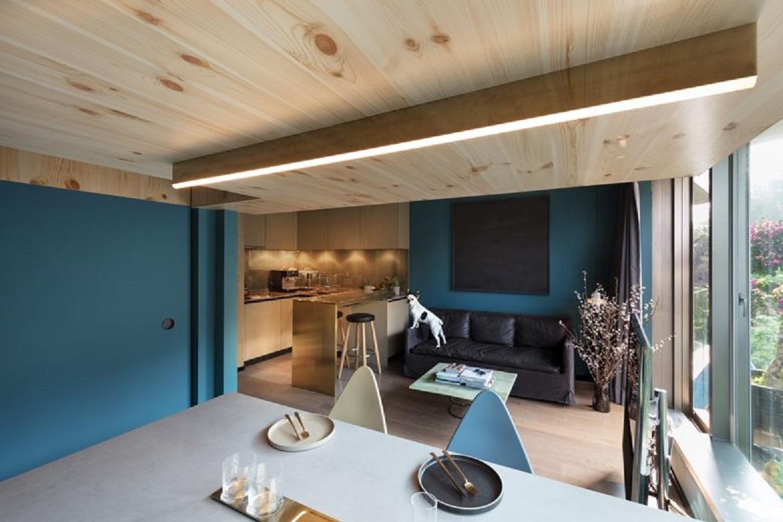 طراحی داخلی خانه جنگلی 35 متری - Mini Treehouse 10