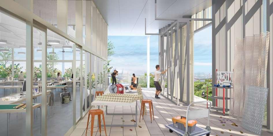 معماری دانشکده طراحی و محیط زیست سنگاپور