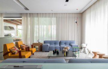 طراحی خانه لوکس و رنگارنگ در برزیل