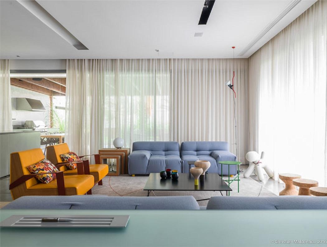 طراحی خانه لوکس و رنگارنگ در برزیل - PVN house 21