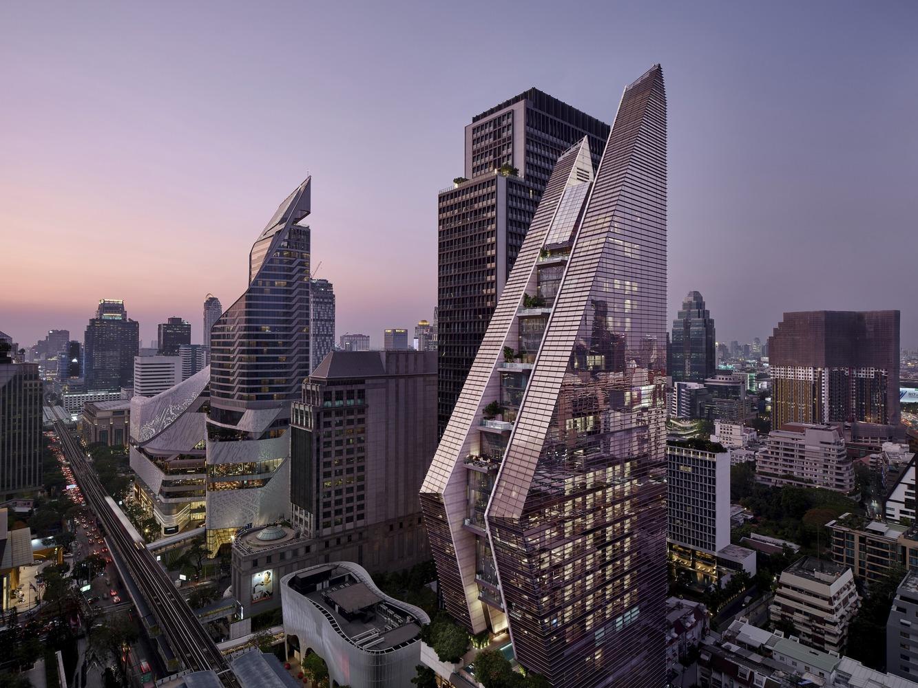 طراحی هتل بانکوک با سبک معماری معاصر - Rosewood Bangkok Hotels 2 1