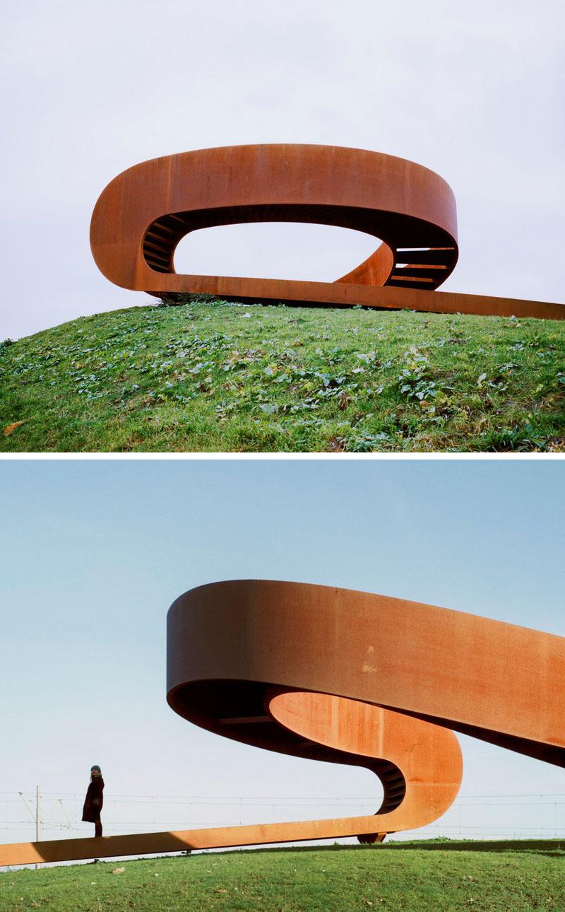 طراحی مجسمه شهری فولادی در هلند - Steel Public Sculpture 3