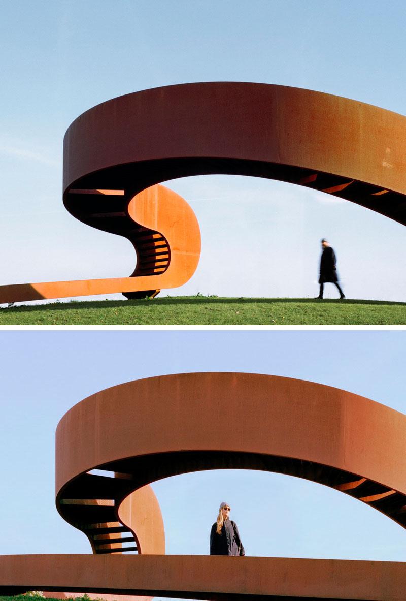 طراحی مجسمه شهری فولادی در هلند - Steel Public Sculpture 4