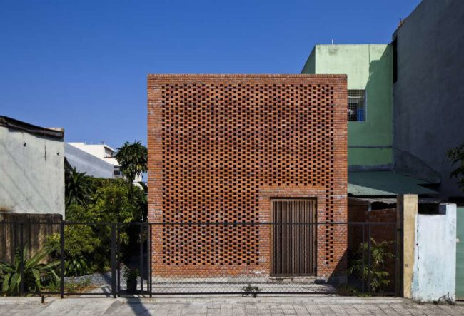 طراحی آپارتمان آجری در ویتنام