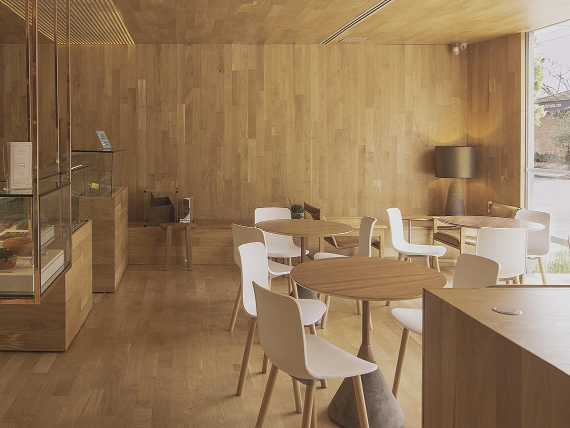 طراحی کافه قنادی مینیمال در برزیل - Tetê Bakery 16 1