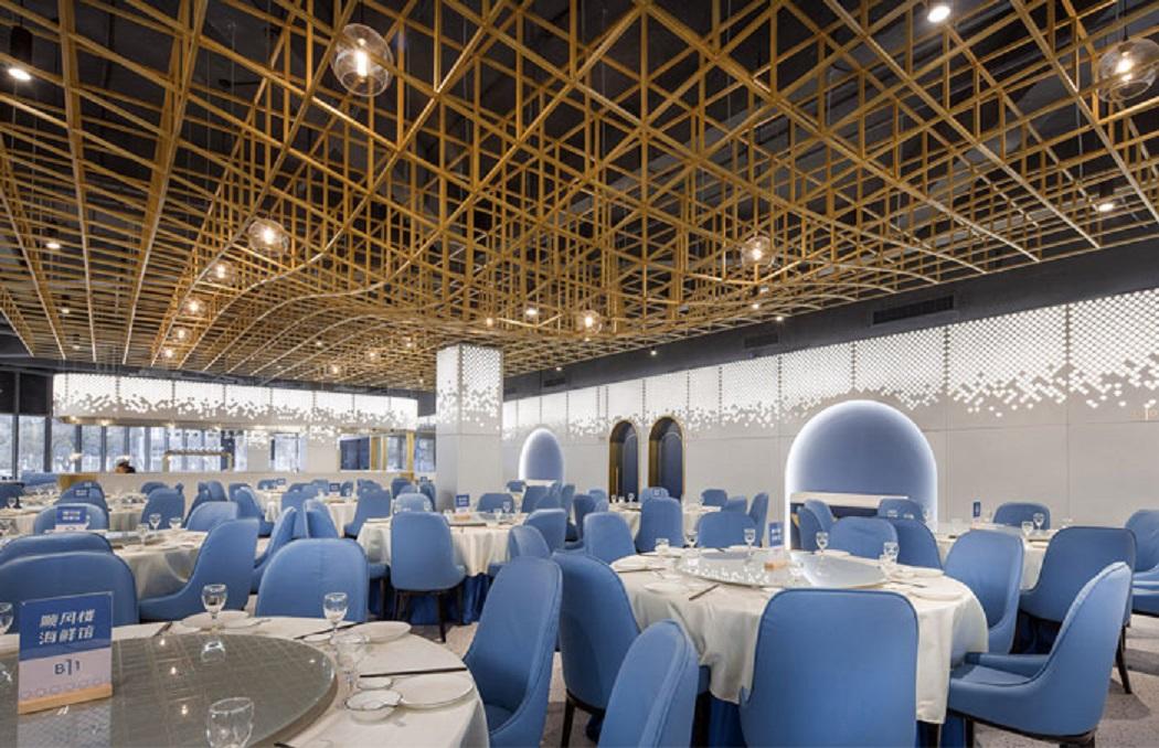 طراحی رستوران غذا های دریایی با الهام از اقیانوس - shunfenglou seafood restaurant 17