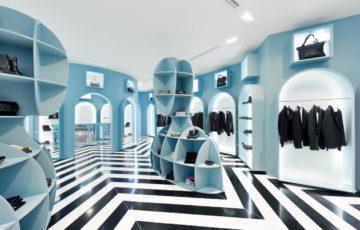 طراحی داخلی فروشگاه لباس به سبک ایتالیایی
