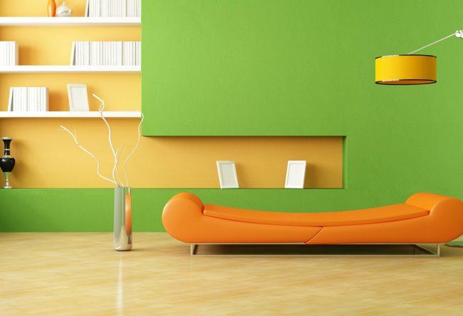 ترکیب رنگ های جسورانه در دکوراسیون داخلی