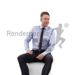 دانلود مدل سه بعدی انسان اسکن شده از RenderPeople