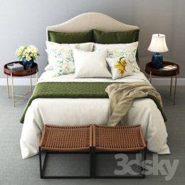 دانلود آبجکت ست تخت خواب مدرناز Pro 3DSky